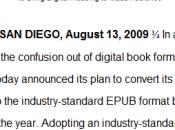 standard ePub format ouvert... même avec