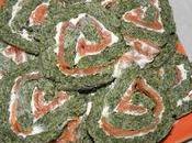 Roulé saumon épinards