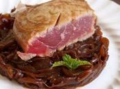 Thon mi-cuit, confit d'oignon rouge balsamique