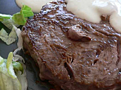Parfait charolais sauce roquefort