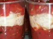 Verrines fraîcheur tomates chèvre frais... Mise bouche nostalgie estivale!
