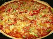 Pizza jambon poivron chair saucisse