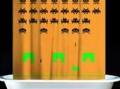Rideau douche Space Invaders