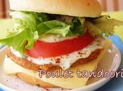 Burger poulet tandoori