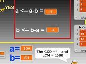 Algorithme seconde PGCD PPCM) avec Scratch