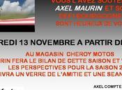 Axel Maurin vous invite novembre prochain pour bilan saison 2009 projets