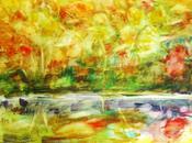 monotone l'automne couleurs Poèmes aquarelle
