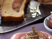 Gâteau yaourt brebis, figues caramélisées miel romarin, huile noisette Lesieur