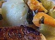 Escalope Veau petites légumes d'hiver...