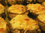 Champignons farcis fromage échalote