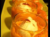Verrine carotte chèvre façon flottante