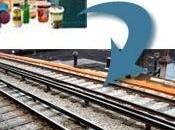 déchets travers Rail