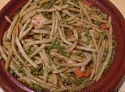 Tagine poulet haricots beurre, carottes petits pois