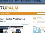 Prebrowser Surfez WebOs avec votre iphone