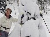 Bonhomme neige original sportif