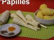 Frites panais, pommes terre radis noir