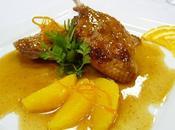 Canetons l'orange, pommes gaufrette