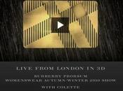 défilé Burberry Prorsum pour femme automne hiver 2010-2011 live et...