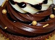 cupcake chocolats, façon bling-bling pour Clubber soir (Cupcake week)