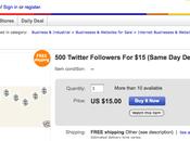 Achetez followers eBay, c'est cher