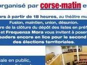 Débat entre quatre candidats second tour soir théâtre Bastia