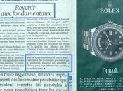 Rolex Bling-bling Retour Fondamentaux