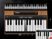 Screenshots d'une appli Piano pour iPad