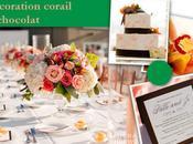 Décoration mariage corail chocolat: mélange improbable