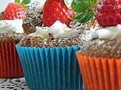 Cupcakes 'Papillon' Chocolat Noir Fraises Vanille