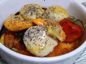 Saint-Jacques tomate pavot