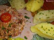 Purée panais noisette, topinambours tonka, andouillette sauce vinaigre d'hibiscus