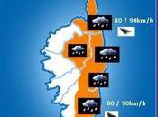 Alerte orange niveau local Dégradation fortement pluvieuse venteuse cours jusqu'à demain soir.