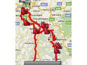 parcours Liège-Bastogne-Liège 2010 Google Maps/Google Earth l'itinéraire horaire