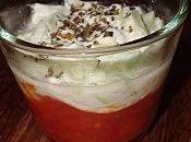 Verrine concassée tomates basilic, mozza tartare concombre (Par Virginie)