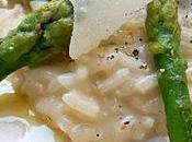 Risotto primavera l'asperge verte, parmesan huile truffe blanche