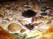 Tarta setas atun/ Tarte champignons-thon
