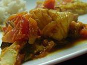 Curry poisson oignons tomates sans lait gluten