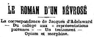Affaire Adelsward-Fersen. Juillet 1903. partie.