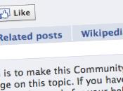 Facebook Wikipédia, partenariat change donne