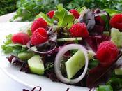 Salade framboises l'oignon rouge