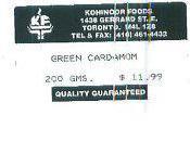 Alerte alimentaire Salmonella dans Green Cardamom gousses Canada