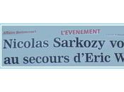 Quand Nicolas (Sarkozy) défend pote Eric (Woerth)