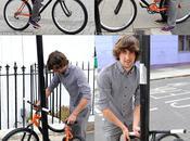 Enroulez votre vélo autour poteaux