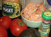 mange quoi demain? salade tomates avocat crevettes