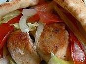 Souvlaki poulet pain pita