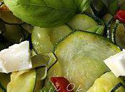 Salade courgettes basilic, citron piments