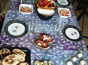 Mini pita, salade greque caviar d'aubergine miel!!