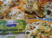 Brochettes cabillaud crevettes marinées basilic