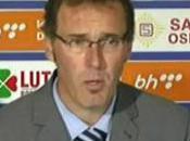 Laurent Blanc 1ère victoire tête l'Equipe France