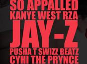 Kanye West RZA, Jay-Z, Pusha Swizz Beatz CyHi Prynce Appalled